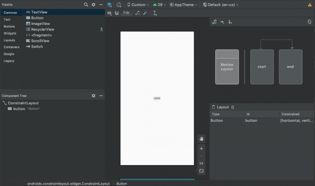 Android Studio 4.0 新功能之玩玩 Motion Editor-天真的小窝
